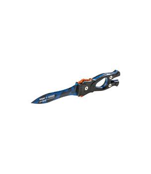 Специальный нож подводного охотника - Сталкер-Стропорез Z1 покрытие синий камуфляж