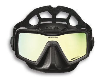 Маска Omer Apnea Mask black silicone mirror lenses